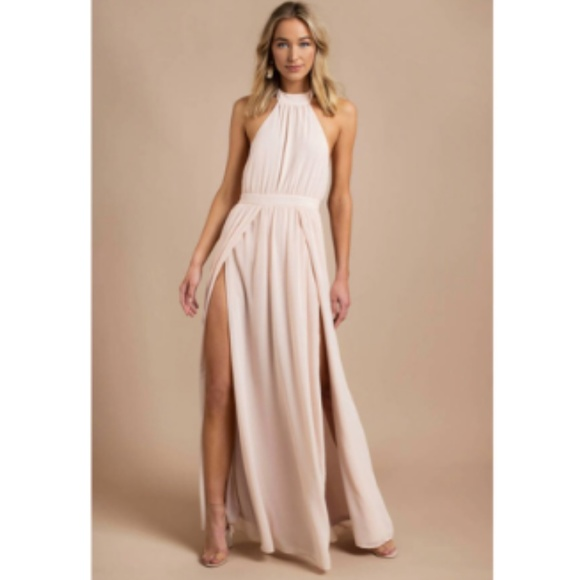 6bb5abbf995 Tobi Tara Light Rose Halter Maxi Dress